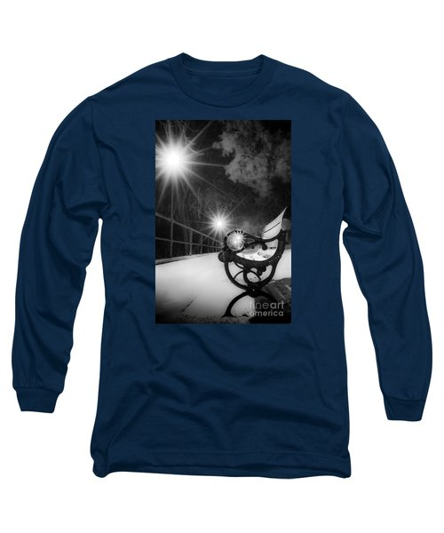 Winter Night Along The River Long Sleeve T-Shirt