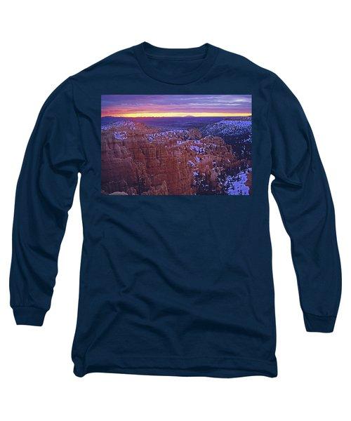 Winter Sunrise At Bryce Canyon Long Sleeve T-Shirt