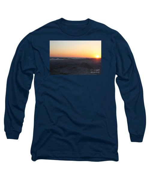 Winter Sunset On Long Beach Long Sleeve T-Shirt