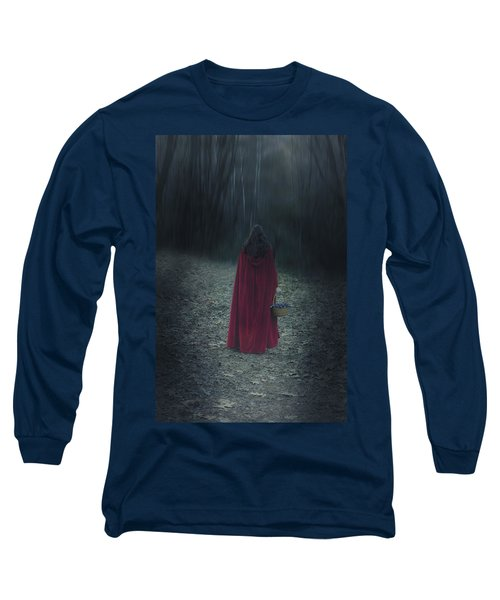 Woman With Basket Long Sleeve T-Shirt
