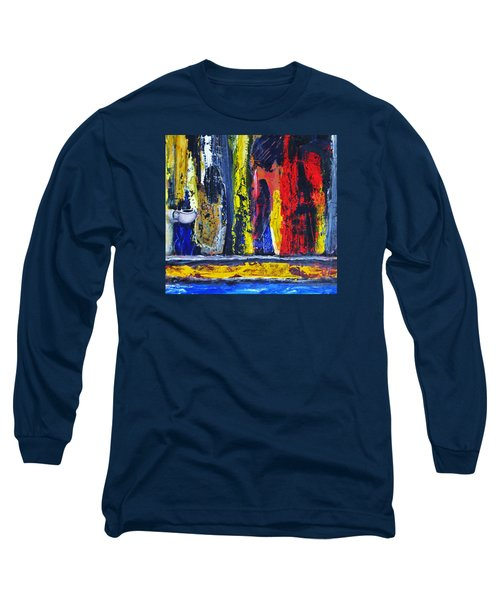 Long Sleeve T-Shirt featuring the painting Women In Ceremony by Kicking Bear  Productions