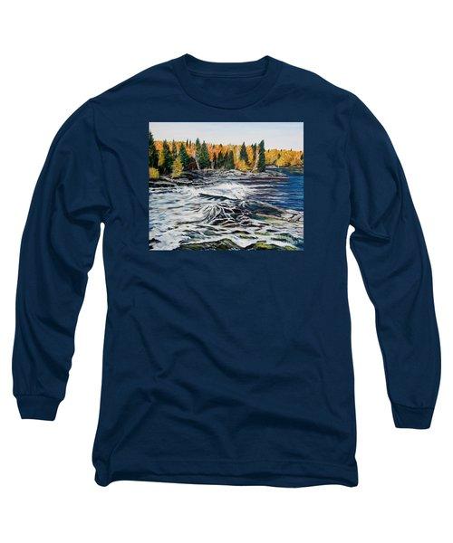Wood Falls 2 Long Sleeve T-Shirt by Marilyn  McNish