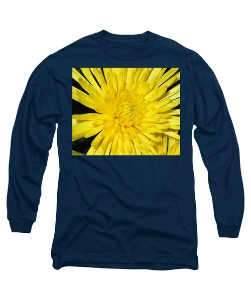 Yellow Flower Closeup Long Sleeve T-Shirt by Barbara Yearty