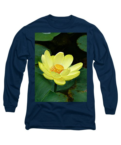 Yellow Lotus Long Sleeve T-Shirt