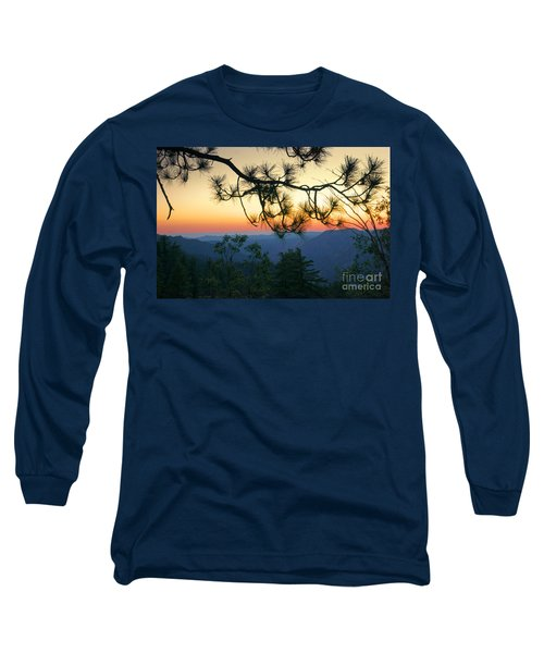 Yosemite Dusk Long Sleeve T-Shirt by Ellen Cotton