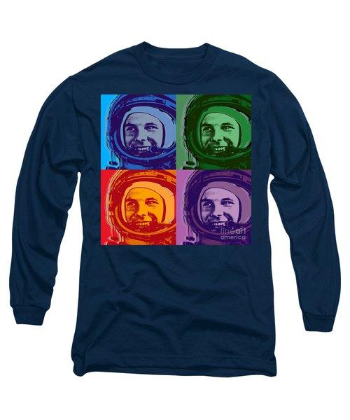 Yuri Gagarin  Long Sleeve T-Shirt by Jean luc Comperat