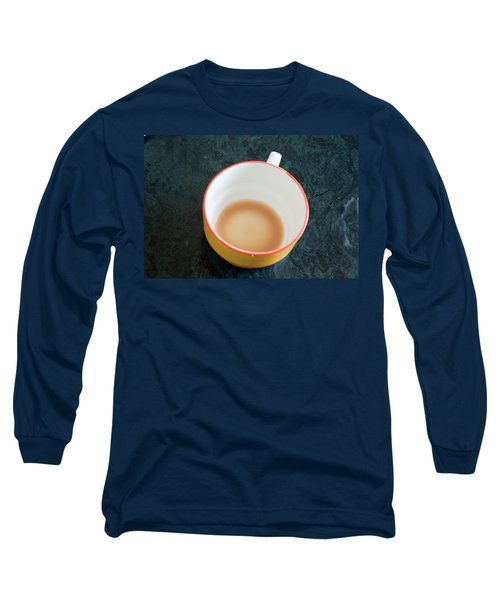 Long Sleeve T-Shirt featuring the photograph A Cup With The Remains Of Tea On A Green Table by Ashish Agarwal
