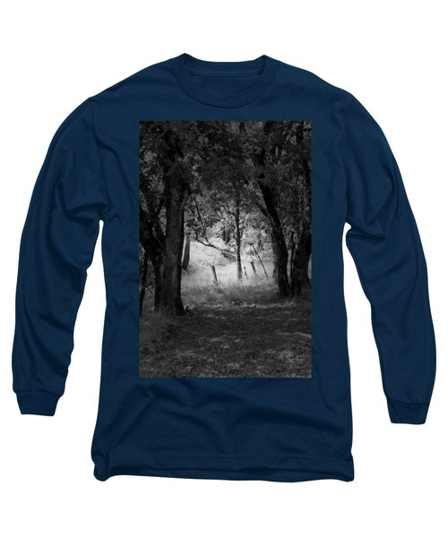 Through The Trees  Long Sleeve T-Shirt by Kathleen Grace