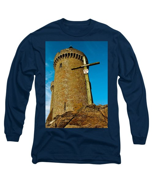 Long Sleeve T-Shirt featuring the photograph Solidor And Cross by Elf Evans