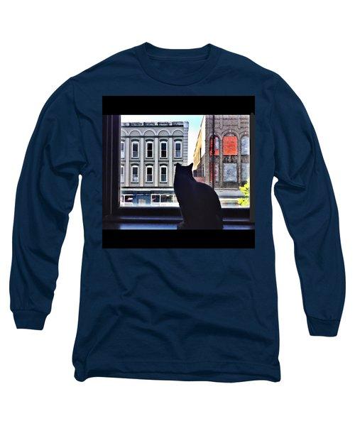 A Cat's View Long Sleeve T-Shirt