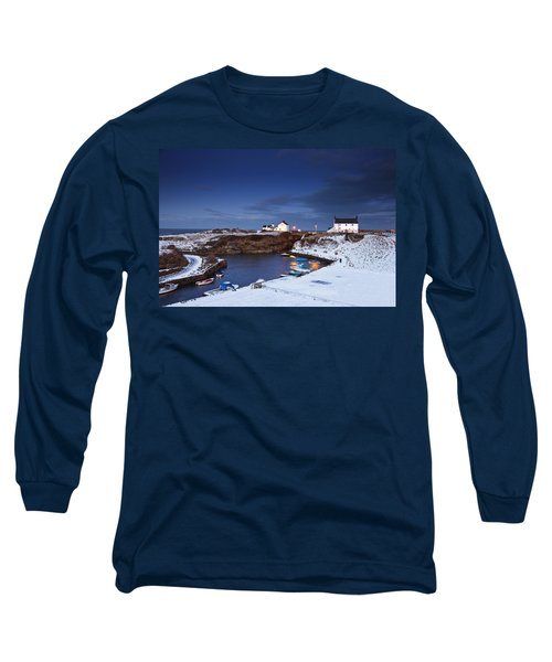 Long Sleeve T-Shirt featuring the photograph A Village On The Coast Seaton Sluice by John Short