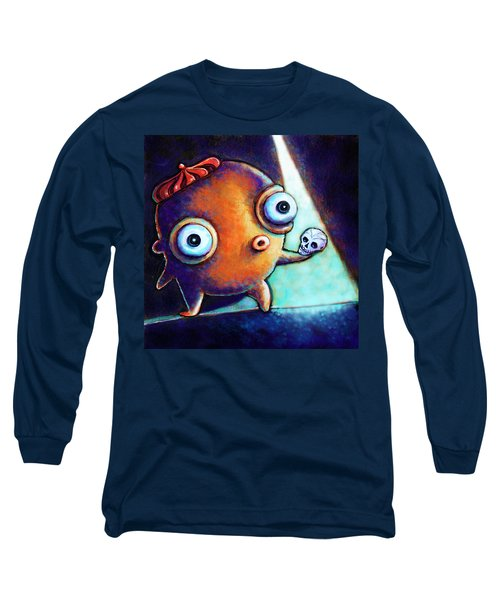 Long Sleeve T-Shirt featuring the painting Alas Poor Yorick by Leanne Wilkes