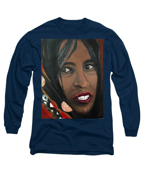 Long Sleeve T-Shirt featuring the painting Alem E. W. by Anna Ruzsan