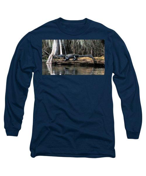 Alligator Sunning Long Sleeve T-Shirt