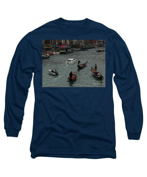 Long Sleeve T-Shirt featuring the photograph Along The Canal by Vivian Christopher