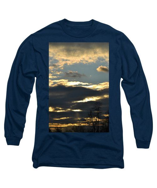 Backlit Clouds Long Sleeve T-Shirt by Bonnie Myszka