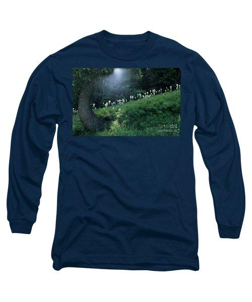 Bear-grass Ridge Long Sleeve T-Shirt by Sharon Elliott