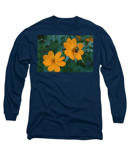 Bee On Cosmos Flower  Long Sleeve T-Shirt
