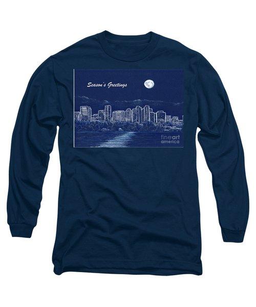 Bellevue Skyline Holiday Card Long Sleeve T-Shirt