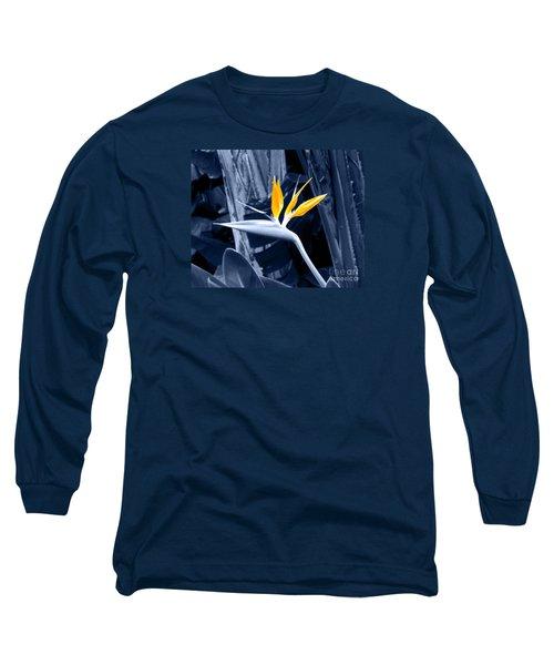 Blue Bird Of Paradise Long Sleeve T-Shirt