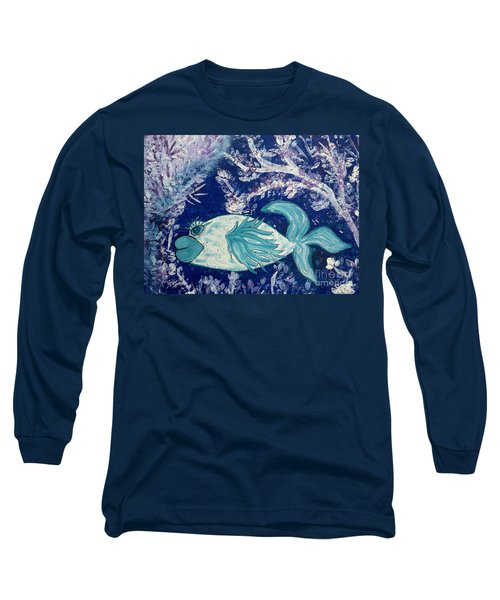 Blue Fish Called Flow Long Sleeve T-Shirt