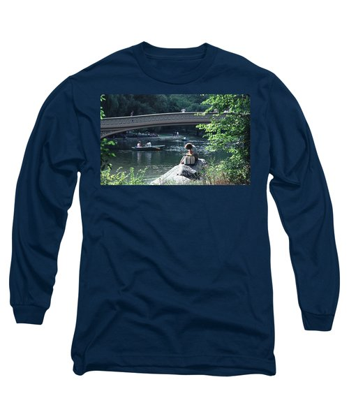 Bow Bridge In Central Park Nyc Long Sleeve T-Shirt