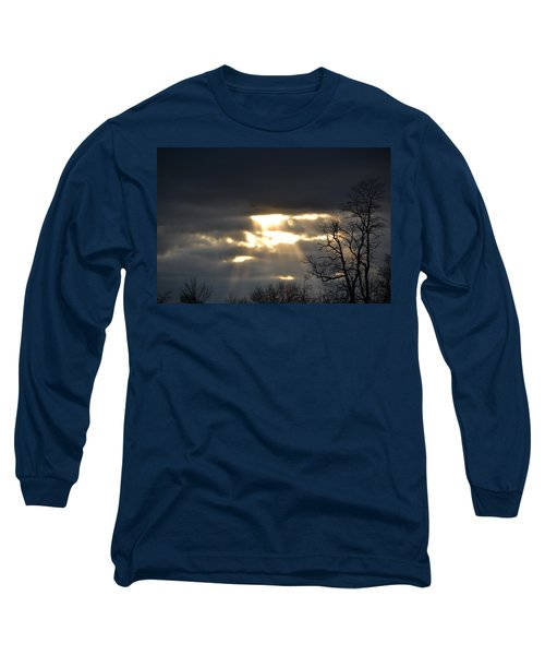 Break In The Clouds Long Sleeve T-Shirt by Bonnie Myszka