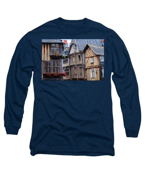 Long Sleeve T-Shirt featuring the photograph Brittany Buildings by Dave Mills