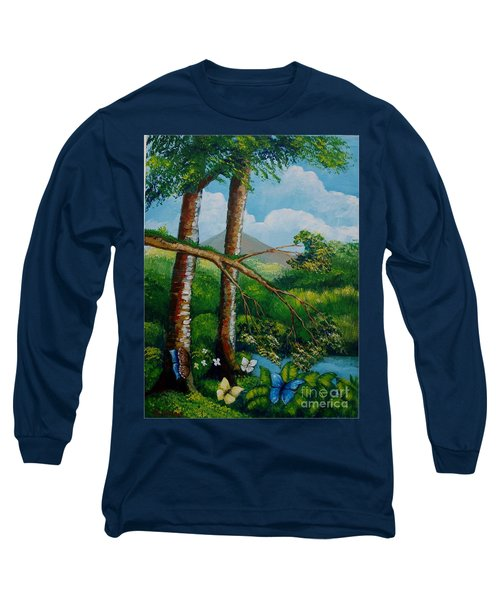 Butterflyes On The Wild Long Sleeve T-Shirt