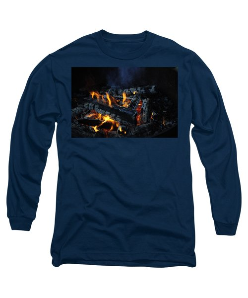 Long Sleeve T-Shirt featuring the photograph Campfire by Fran Riley