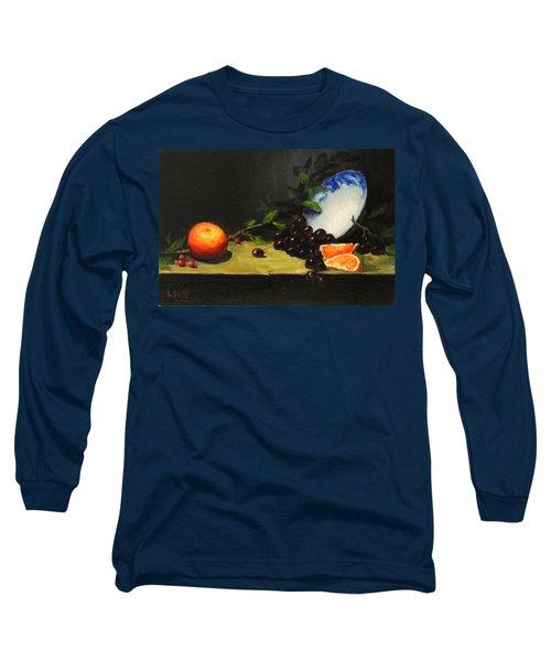 China Bowl And Fruits Long Sleeve T-Shirt