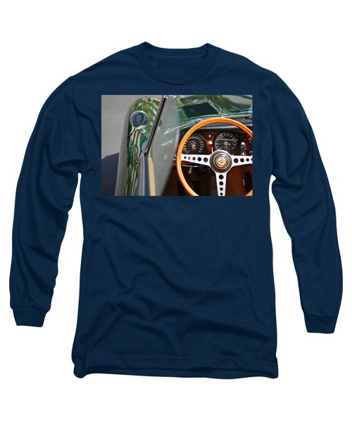 Classic Green Jaguar Artwork Long Sleeve T-Shirt