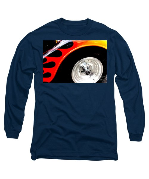 Long Sleeve T-Shirt featuring the digital art Curves Of Flames by Tony Cooper