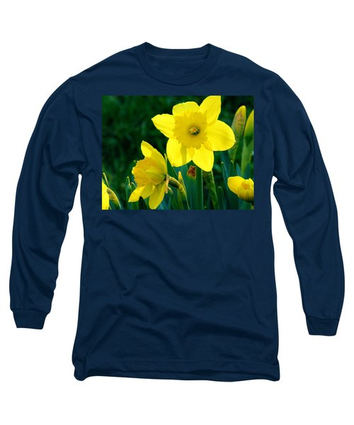 Long Sleeve T-Shirt featuring the photograph Daffodils by Sherman Perry