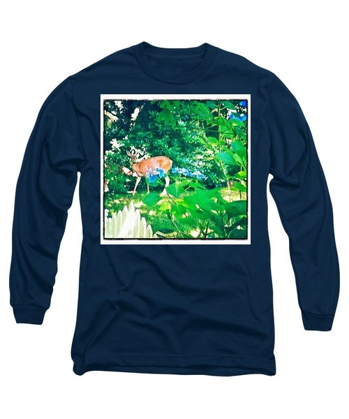Deer In Our Backyard Long Sleeve T-Shirt