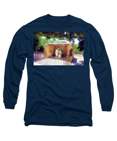Do-00500 St Rafqa Statue Long Sleeve T-Shirt by Digital Oil