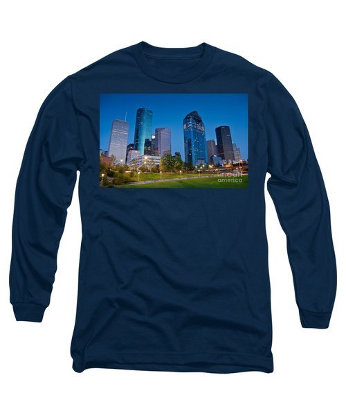 Downtown Houston Long Sleeve T-Shirt