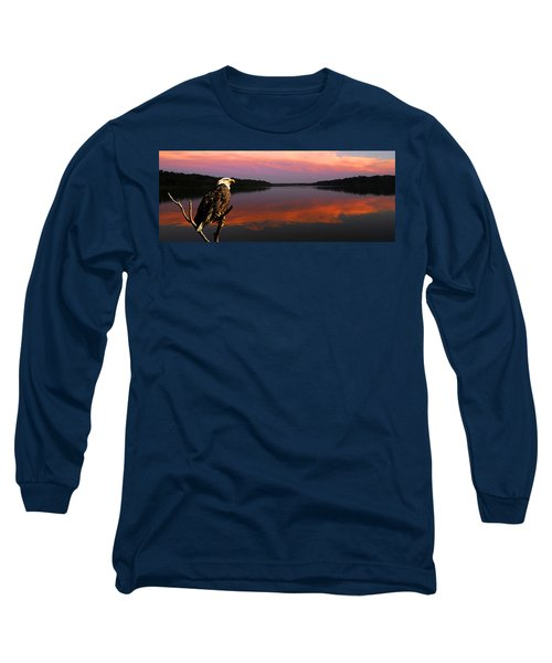 Long Sleeve T-Shirt featuring the photograph Eagle Overlooking Domain by Randall Branham