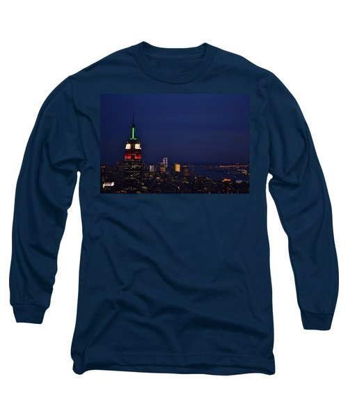 Long Sleeve T-Shirt featuring the photograph Empire State Building3 by Zawhaus Photography