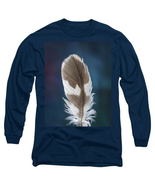 Feather Design Long Sleeve T-Shirt