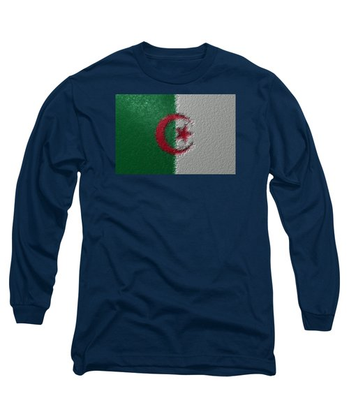 Long Sleeve T-Shirt featuring the digital art Flag Of Algeria by Jeff Iverson