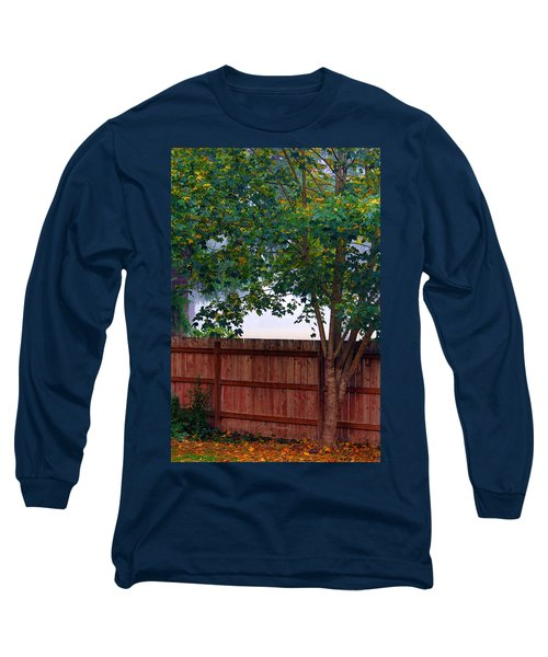 Long Sleeve T-Shirt featuring the photograph Fog In Olympia by Jeanette C Landstrom