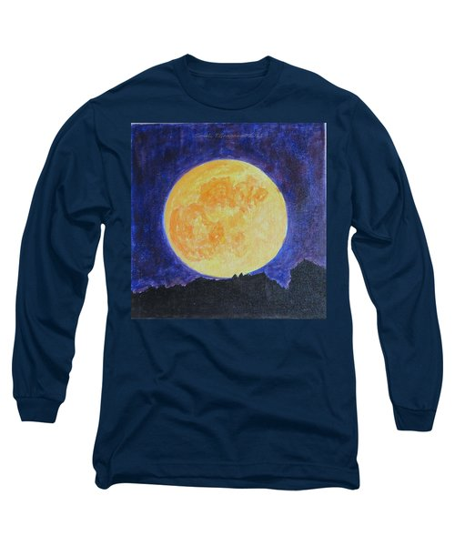 Long Sleeve T-Shirt featuring the painting Full Moon by Sonali Gangane