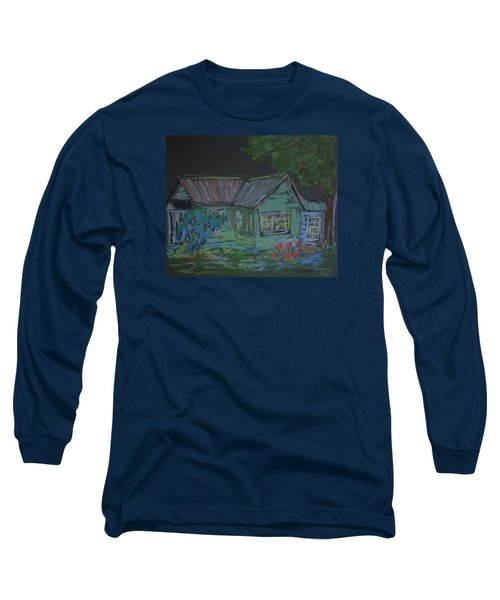 Long Sleeve T-Shirt featuring the painting Gabby's House by Francine Frank
