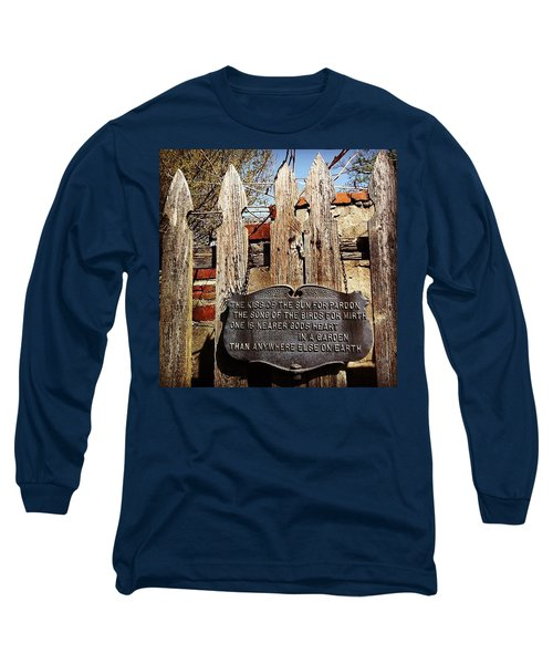 Garden In Philadelphia Long Sleeve T-Shirt
