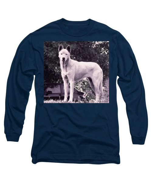 Ghost The Wolf Long Sleeve T-Shirt by Maria Urso