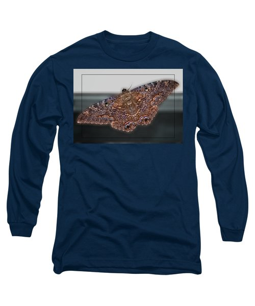 Long Sleeve T-Shirt featuring the photograph Giant Moth by DigiArt Diaries by Vicky B Fuller