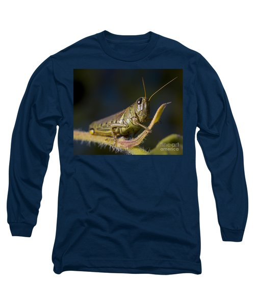 Long Sleeve T-Shirt featuring the photograph Grasshopper by Art Whitton