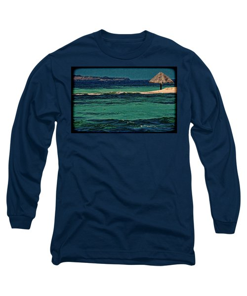 Long Sleeve T-Shirt featuring the photograph Grenadines Umbrella by Don Schwartz