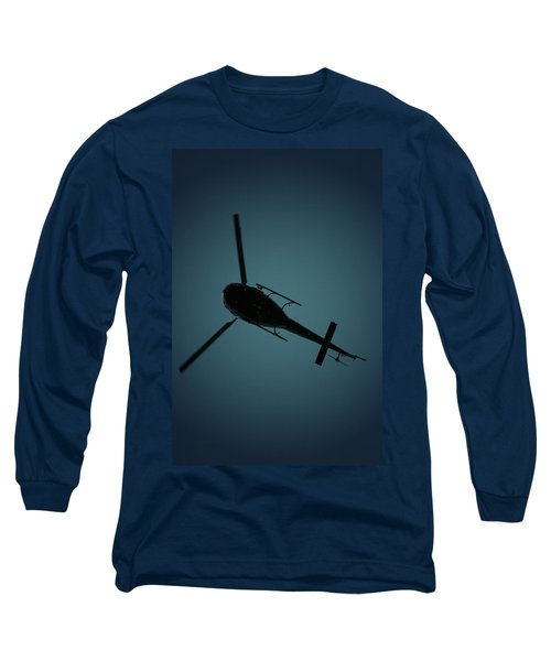 Helicopter Silhouette Long Sleeve T-Shirt